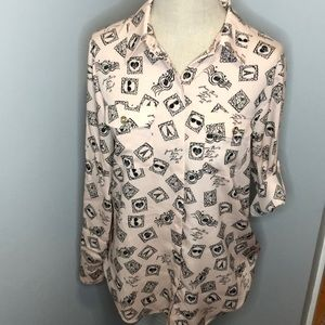 Karl Lagerfeld Paris Ongoing Button Down Top
